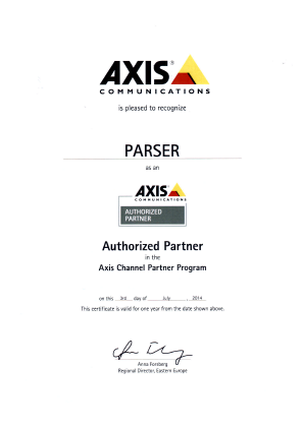 Axis Partner Certificate