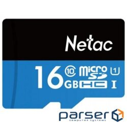 Netac MicroSD card P500 Standard 16GB, with SD adapter (NT02P500STN-016G-R)