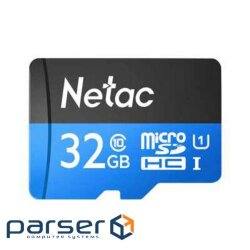 Netac MicroSD card P500 Standard 32GB, retail version w/ SD adapter (NT02P500STN-032G-R)