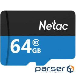 Netac MicroSD card P500 Standard 64GB, retail version w/ SD adapter (NT02P500STN-064G-R)